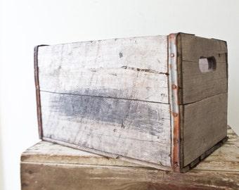 Vintage Pepsi Wooden Crate - Vintage Crate - Vintage Wood Crate Typography Type Wooden