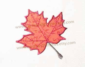 Maple Leaf Applique - Machine Embroidery Design - Instant Download - Embroidery - Two Hoop Sizes - Seven formats plus SVG included