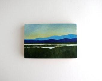 Adirondack Landscape Painting - 4 x 6