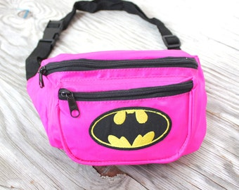 Vintage Retro Neon Pink Batman Fannypack