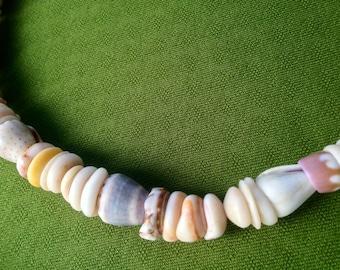 Puka Shell Necklace - Puka Shell Lei - Kauai Puka Shells Endemic  Kauai Made Hawaiian Style Gathered Eco Freindly Endangered reef Gems