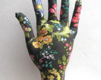 Wildflower Fabric Hand Glasses Earring Organizer REGULAR Style HAND-Stand