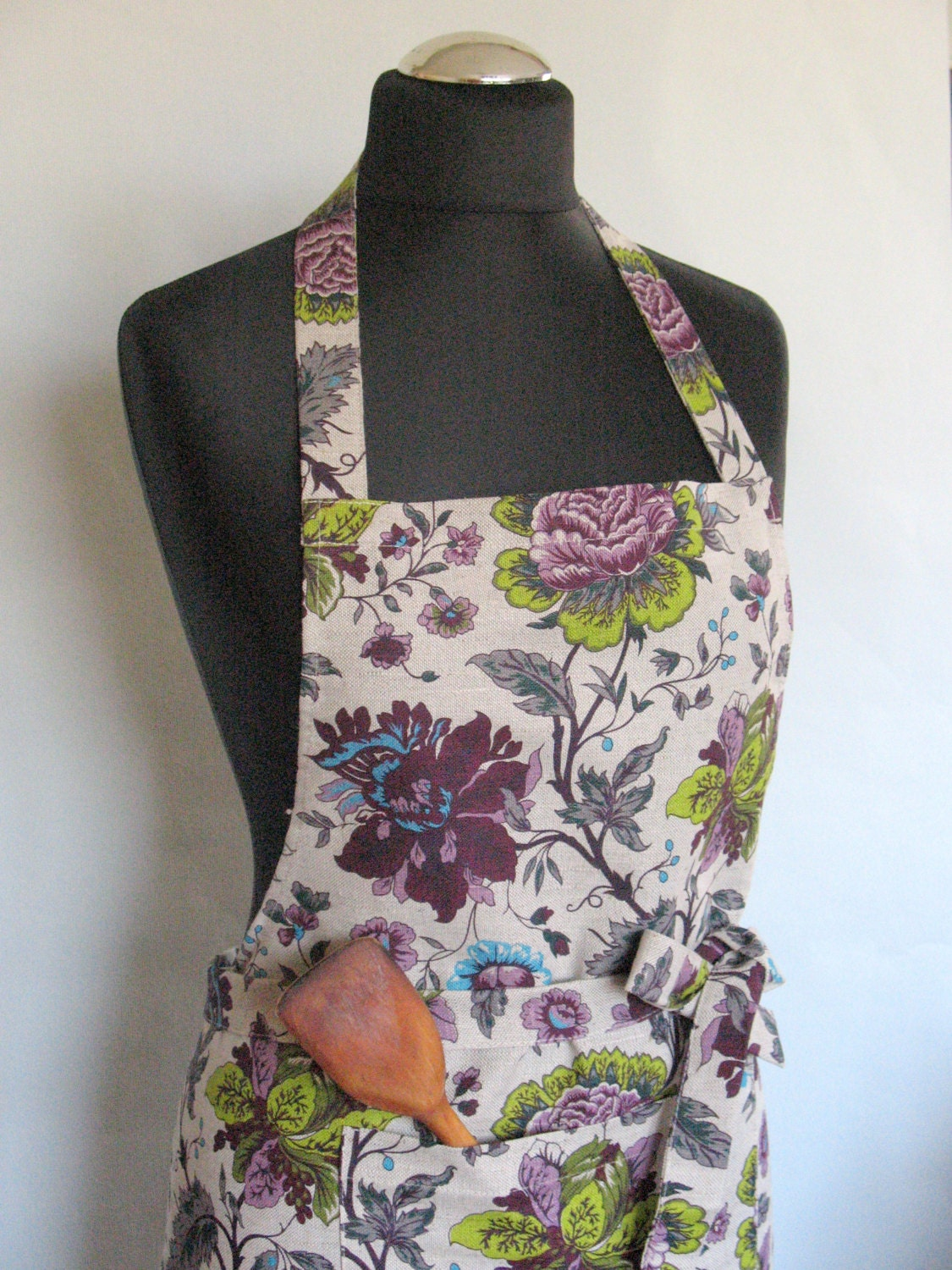 Linen Kitchen Utility Apron Womens Aprons for women by ...