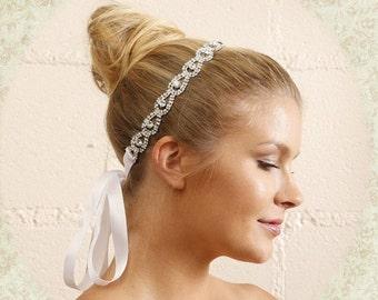 Bridal hair accessory, bridal headband, Bohemian rhinestone headband, Crystal headband, wedding hair accessory