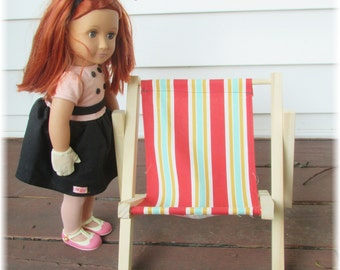 """Doll Lawn Chair (Crafted to fit the American Girl Doll) """"FREE"""" Shipping"""