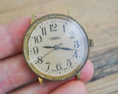 Vintage Russian wrist watch for parts.Didn't work.