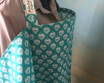Breastfeeding nursing cover like hooter hider teal print