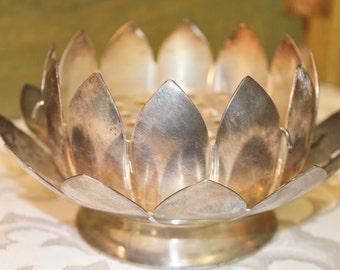 Leonard Silver Plate Leonard Lotus Flower Frog - Lotus Floral Bowl Silver Plated