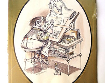 Rare Vintage 1975 Gary Patterson #1405 The Engineer Print-Thought Factory, Still in Original Plastic Wrap