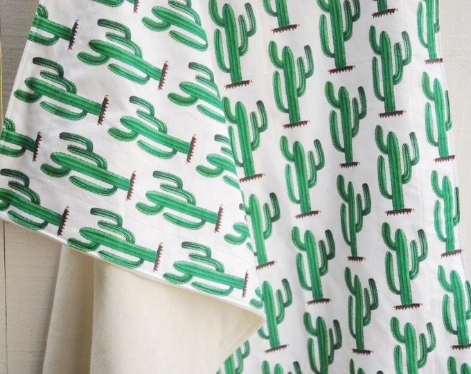 Organic Baby Blanket - Lush Cozy Cactus, Southwest, Desert, Cactus, Southwestern Decor