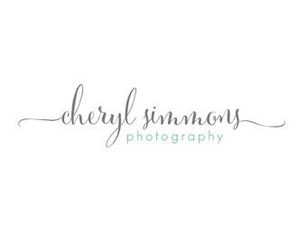 Calligraphy Logo and Watermark - Photography Premade Customizable Logo Design