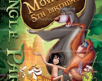 Jungle Book Invitation, Mowgli Party, Jungle Book Birthday Invite