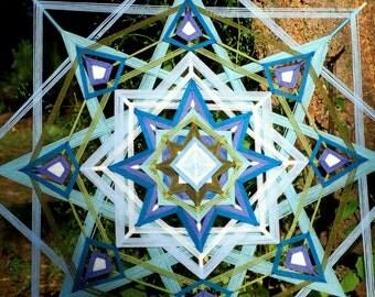 48 inch CUSTOM yarn mandala ojo de dios god's eye