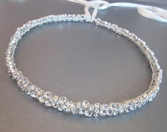 Skinny bridal belt sash, Bridal belt sash, Swarovski belt, Crystal belt in gold or silver, Wedding rhinestone belt, Swarovski crystal belt