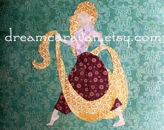 RAPUNZEL - TANGLED Princess Custom Paper Art