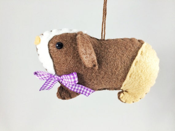 guinea pig ornament personalized ornament felt guinea pig