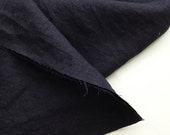 japanese pure linen fabric. medium weight linen fabric. rudeback half. 110cm (43in) wide. sold by 50cm (19in) long / half yard. deep navy