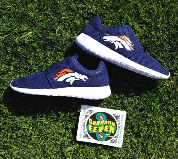wholesale dealer 00444 fda56 Nike Denver Broncos Roshe Run Men s by BandanaFeverDesigns on Etsy best