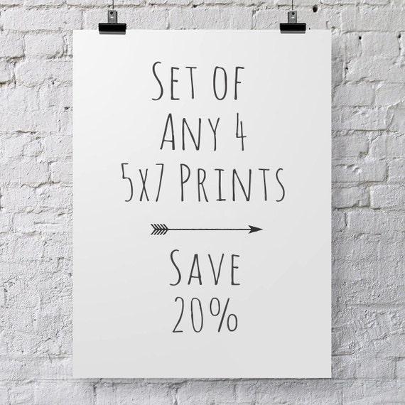 Four 5x7 Photographs- Save 20% Custom Set Four Photograph Set Fine Art Prints Nature Photography, Still Life Photography, Flower Photography