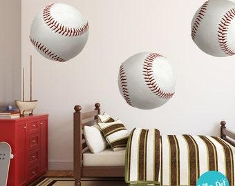 Baseball Wall Decals   Long Life   Apartment Safe - PRN009