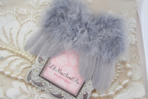 Light Grey Feather Angel Baby Wings for photo shoots for newborn babies, perfect for boys! Bebe, muchacho,  photographer, Lil Miss Sw