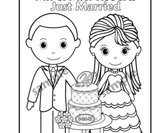 Q And U Wedding Coloring Pages | Coloring Pages