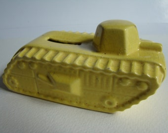 Bank representing a yellow tank