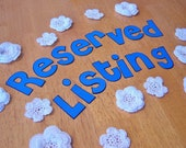 Reserved for Aisha