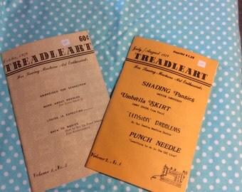Vintage  Set of Craft Books  Treadleart 1978 to 1979