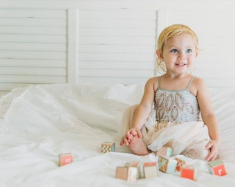 Baby Blocks. Peach, Mint, and Gold nursery decor. toy. Wooden baby blocks. Coral. Elegant / Mod nursery decoration. Baby shower GIFT.