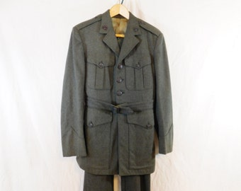 Vintage  WWII  uniform. USMC  Marine  service uniform. Alpha uniform