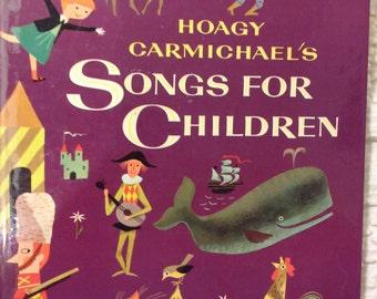Golden Book Hoagy Carmichael's Songs for Children Rare Large Songbook