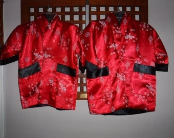 Youth Thai Silk Kimono/jackets reversable sizes are SS and S