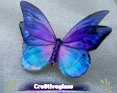 Small 4cm purple and blue resin butterflies with light top wings lifelike art craft projects,weddings,special occasions handcrafted