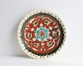 Mexican Folk Art Wall Plate, collectible plate, decorative plate, wall decor, Vintage Mexican plate