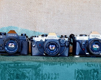 Leather ER camera cases for Olympus,Pentax and Yashica cameras