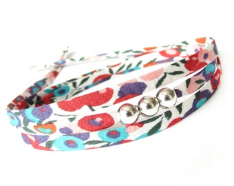 Colourful autumn berry print bracelet for layering, best gifts for girls, modern accessories compliment your fall outfits