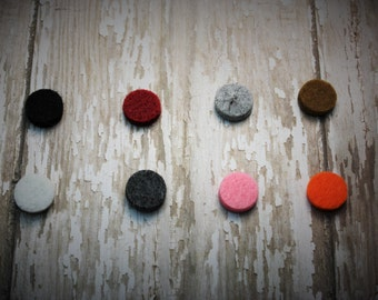 Five Felt Pads for 20mm Essential Oil Diffuser Necklaces