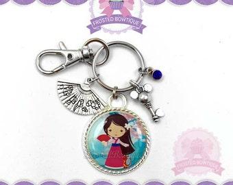 Princess Mulan Key Chain - Keychain Purse Charm