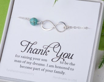 Gift For Sister In Law On Wedding Day : Godmother giftGodmother infinity braceletbirthstone