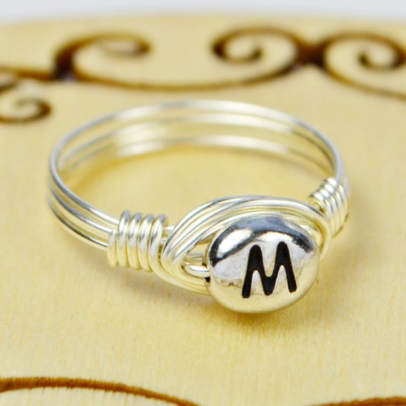 M Letter In Ring Letter M Monogr...