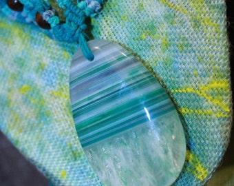 Hemp Necklace, Agate Jewelry, Macrame Jewelry, Gemstone Pendant, Hemp Jewelry, Macrame Agate Jewelry