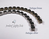 Antique silver empty cup chain bracelet for 39SS stones