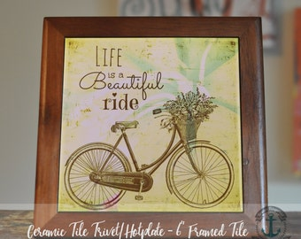 """Trivet Hot Plate:  Beautiful Ride  