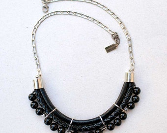 BLACK colors onyx Necklace by Pardes