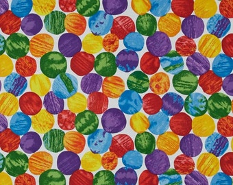 ANNIVERSARY SALE (Yardage Only) -The Very Hungry Caterpillar Abstract GIANT Dots From Andover Fabrics by Eric Carle