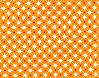 Stars on Orange from Ella Blue Fabrics