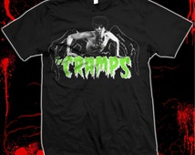 The Cramps - Lux Interior - Psychobilly - Hand silk screened, Pre-shrunk 100% cotton t-shirt