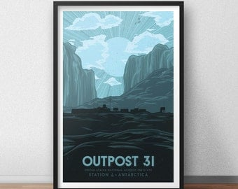 Outpost 31 - 12 x 18 inches - Vacation Poster - The Thing