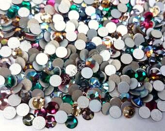 100 pcs Swarovski Flatbacks Mixed Colors 12ss (3.0-3.2mm) 2028 Xilion